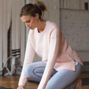 Lululemon Yogi Wool Sweater with Side Zippers EUC